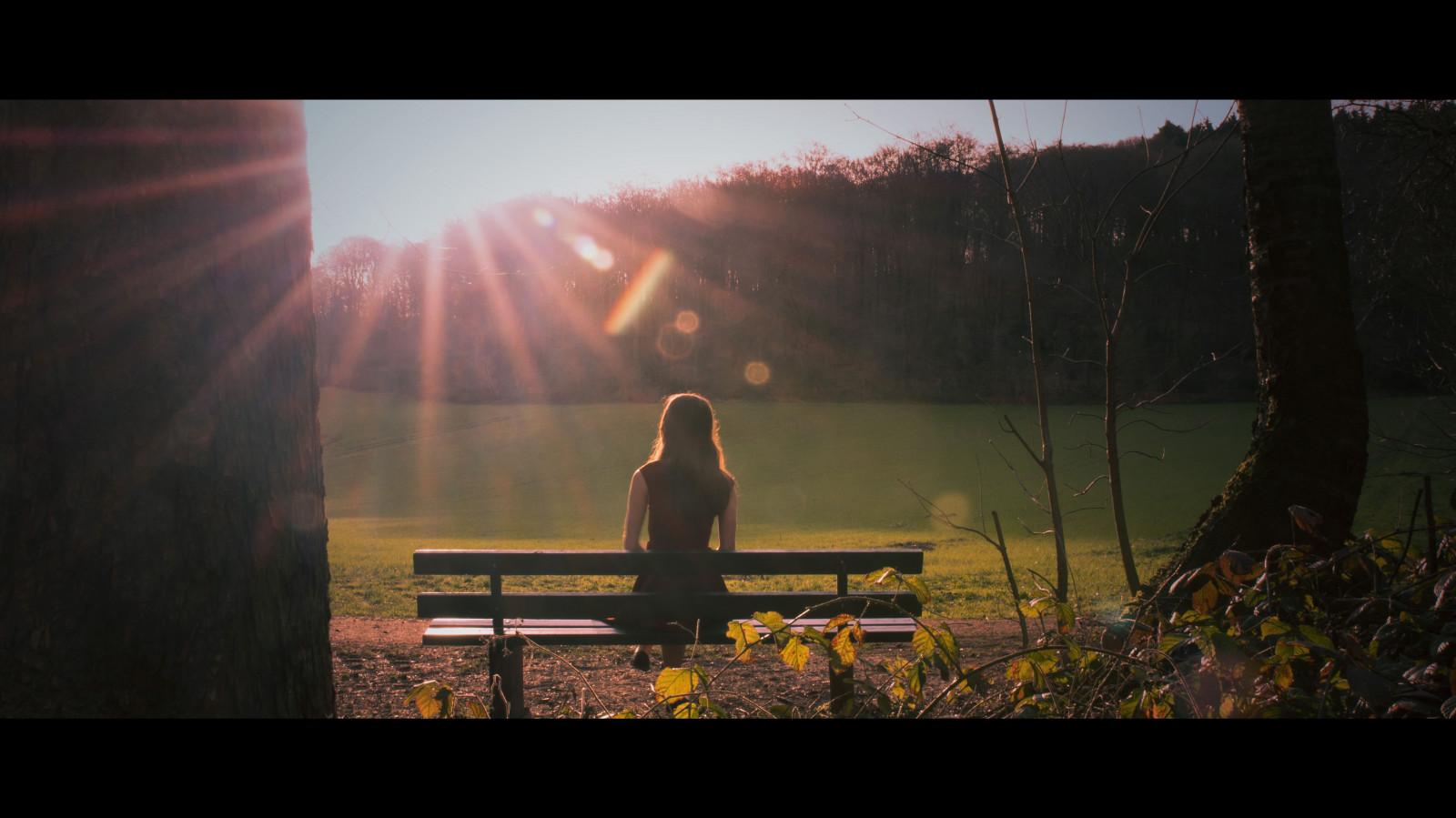 Wallpaper cinematic photography sun sunlight backlight girl sitting waiting 5866x3299 - Wait wallpaper hd ...