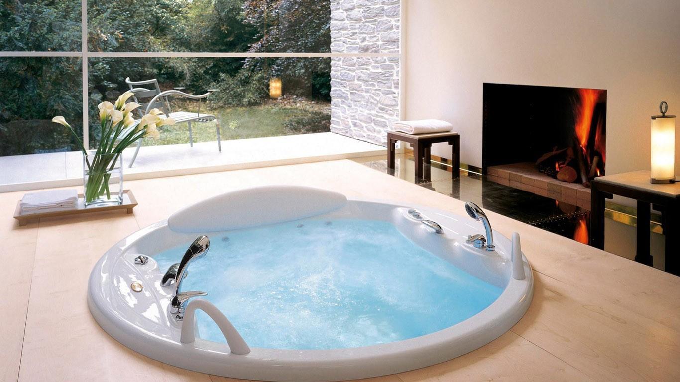 Wallpaper : room, interior, swimming pool, bathtub, bath, estate ...