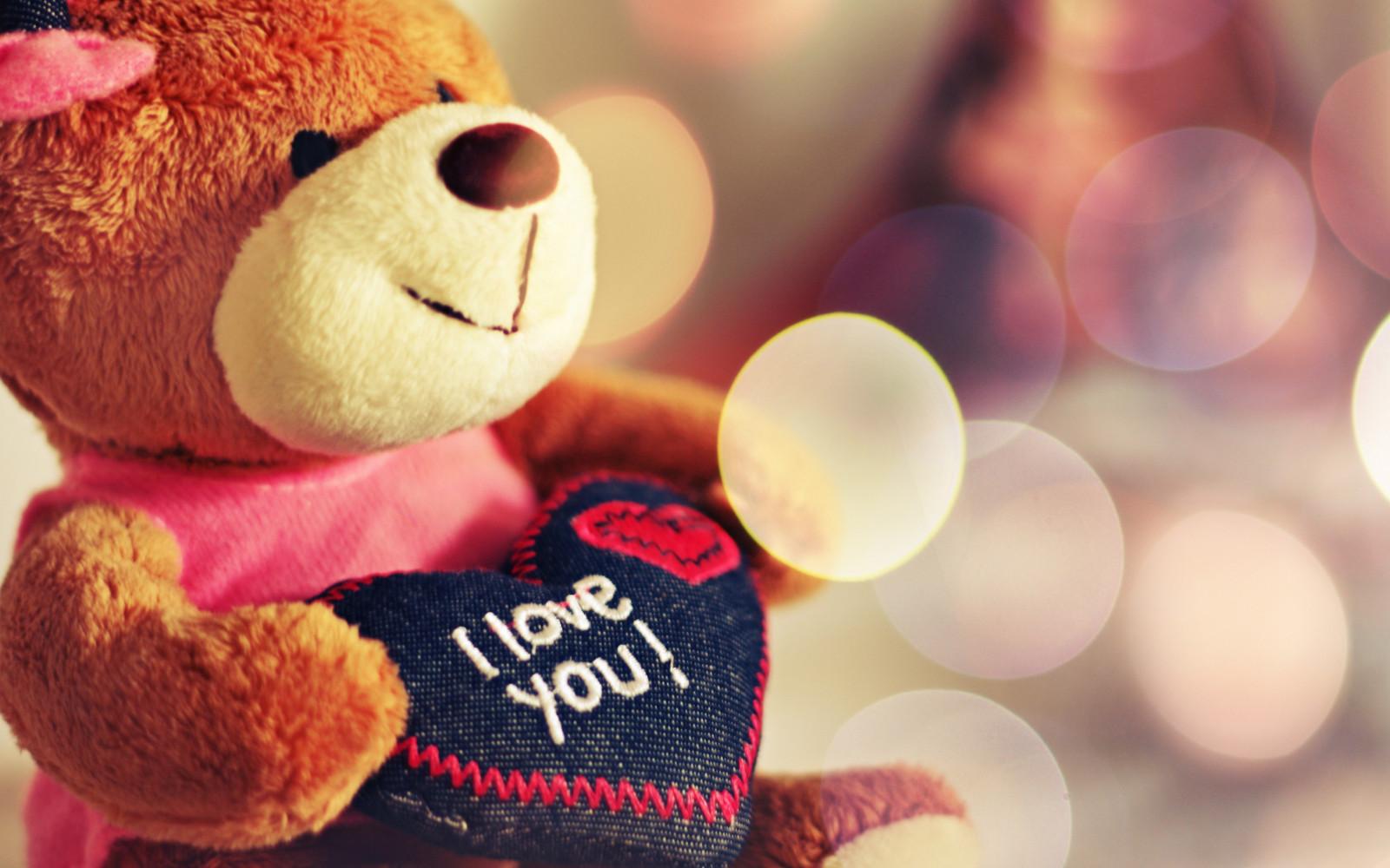 Wallpaper Cinta Boneka Beruang Hari Valentine Mainan