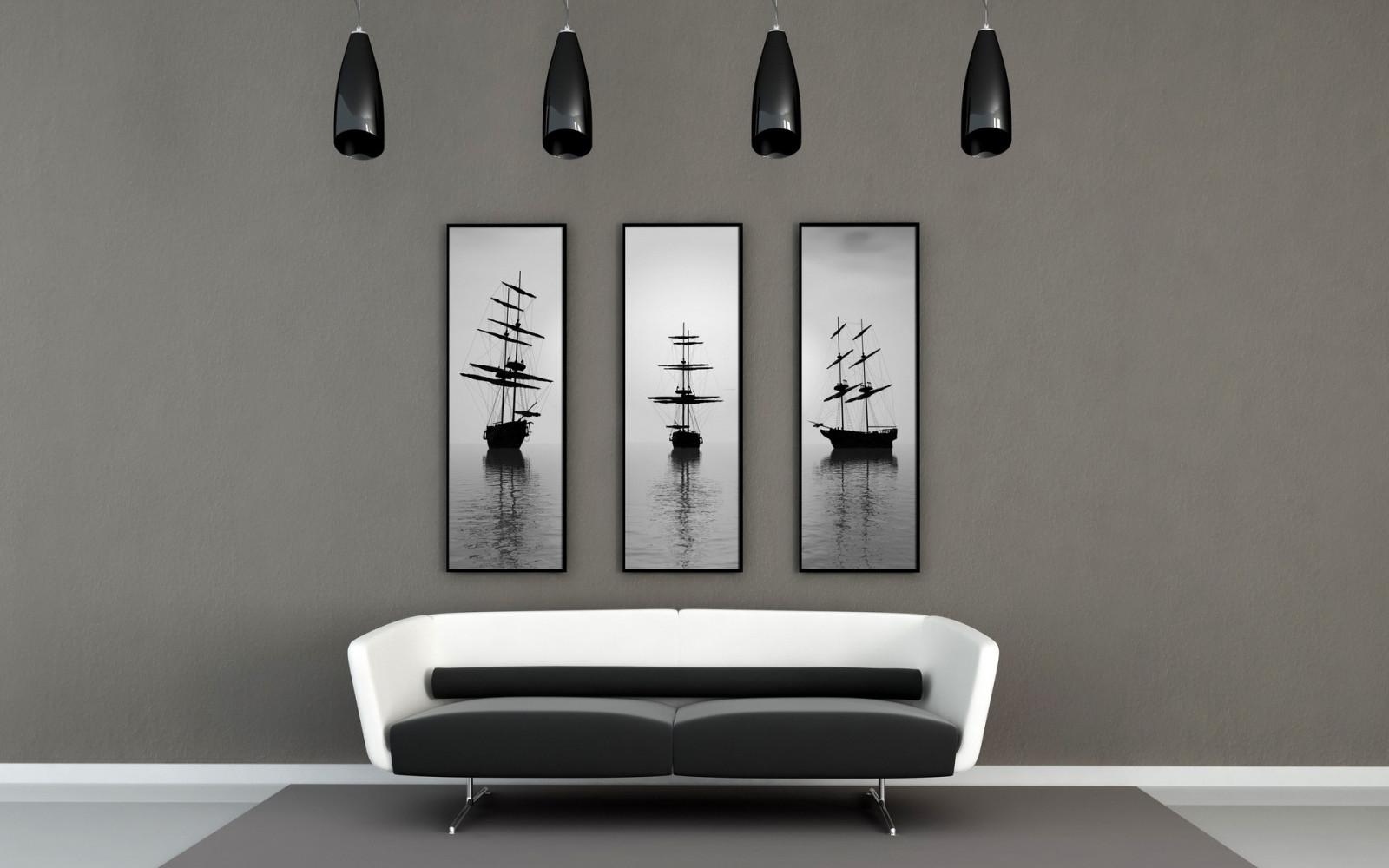 Sfondi : bianca veliero camera parete divano mensola interior