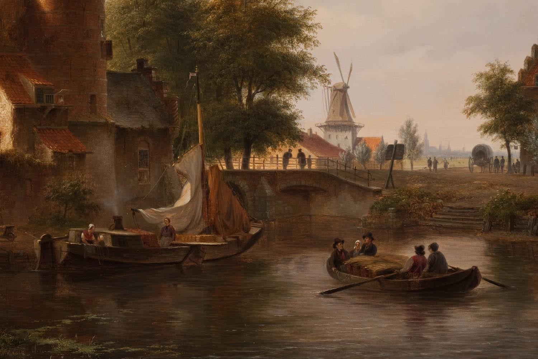 Masaüstü Boyama Tekne Araç Ev Akşam Sabah Köprü Nehir Yel