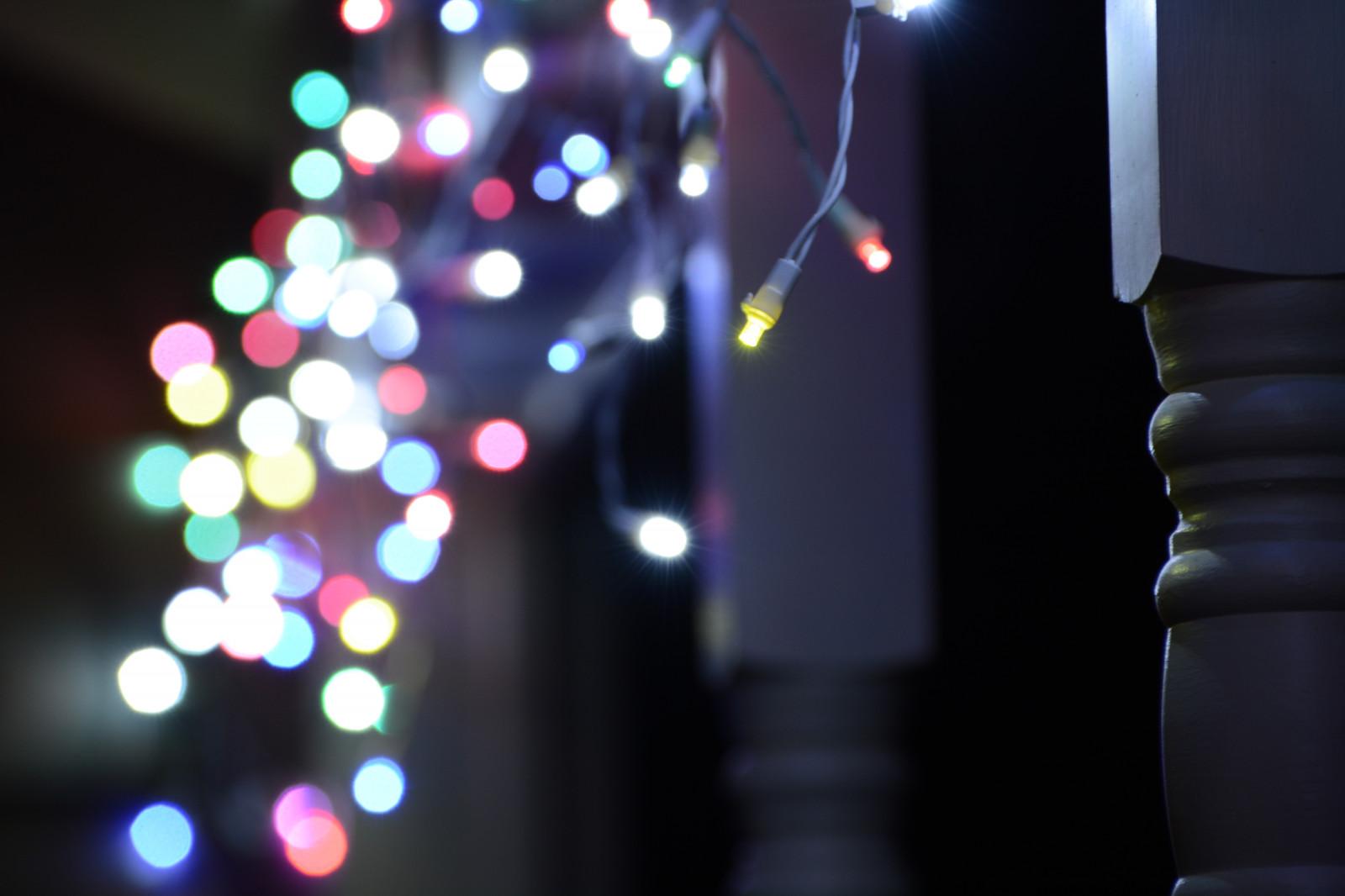 Sfondi Natalizi Luminosi.Sfondi Notte Rosso Verde Blu Vacanza Luci Di Natale
