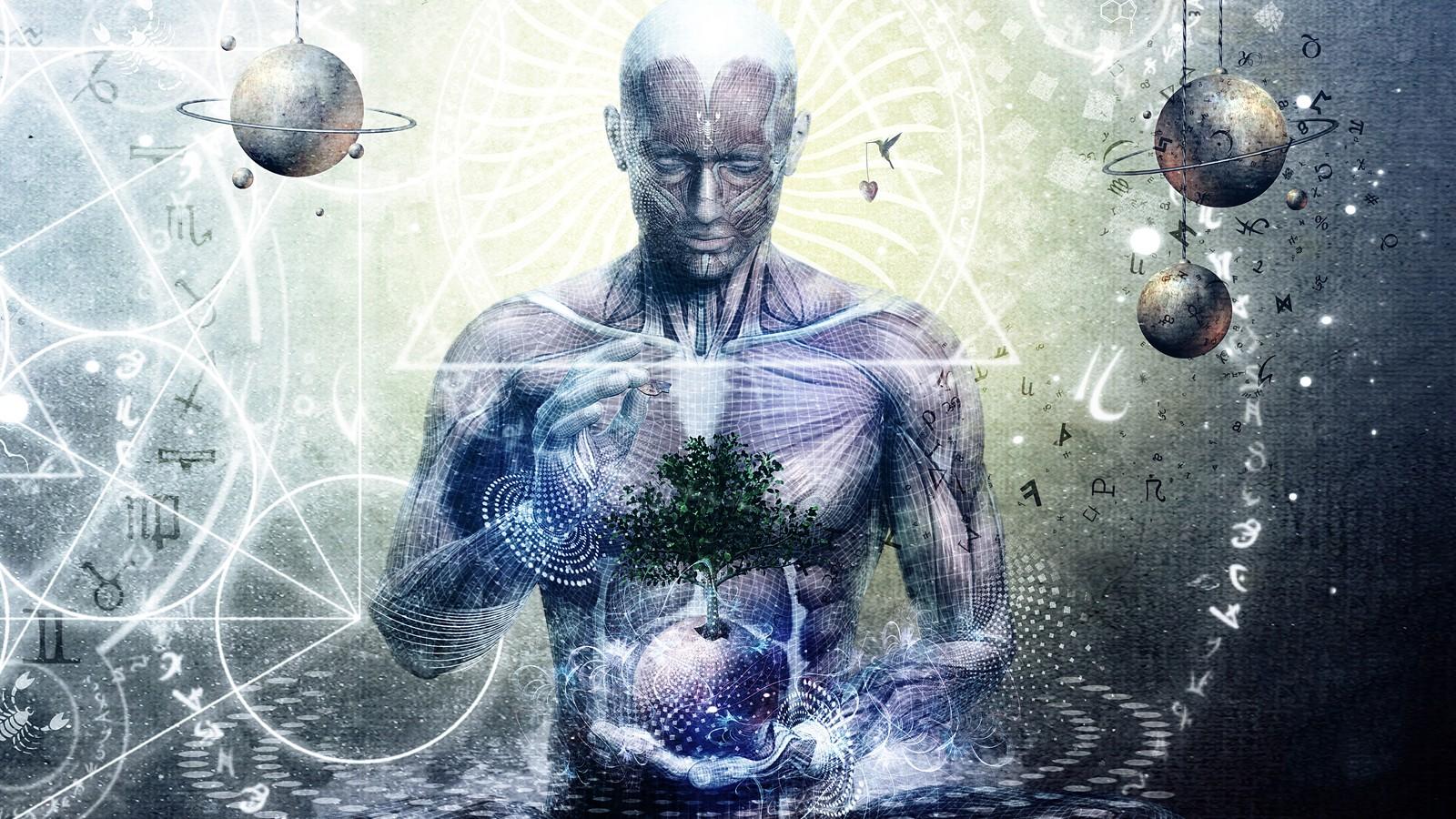 Wallpaper Illustration Meditation Spiritual Cameron Gray Art