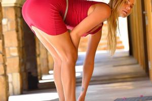 Wallpaper Sports Women Blonde Yoga Sara Jean Underwood Physical Fitness Flooring