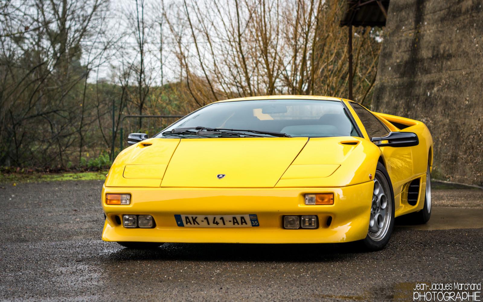 Wallpaper : Old, Supercars, Yellow, Nikon, Lamborghini