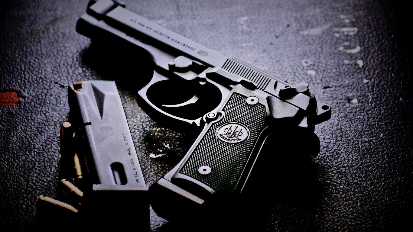 Masaüstü Silah Tek Renkli Fotoğraf Mühimmat Beretta M9
