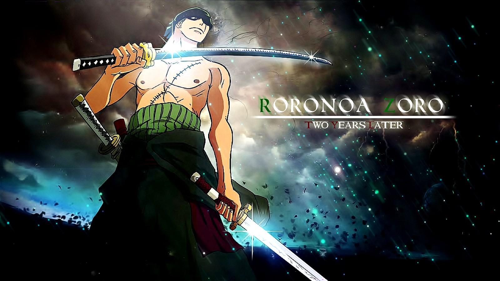 Wallpaper Anime One Piece Roronoa Zoro Midnight