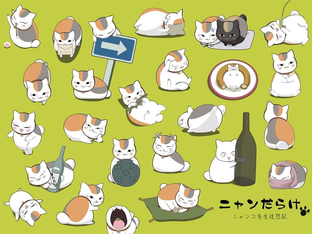 デスクトップ壁紙 図 漫画 夏目友人帳 夏目友人の本 フォント