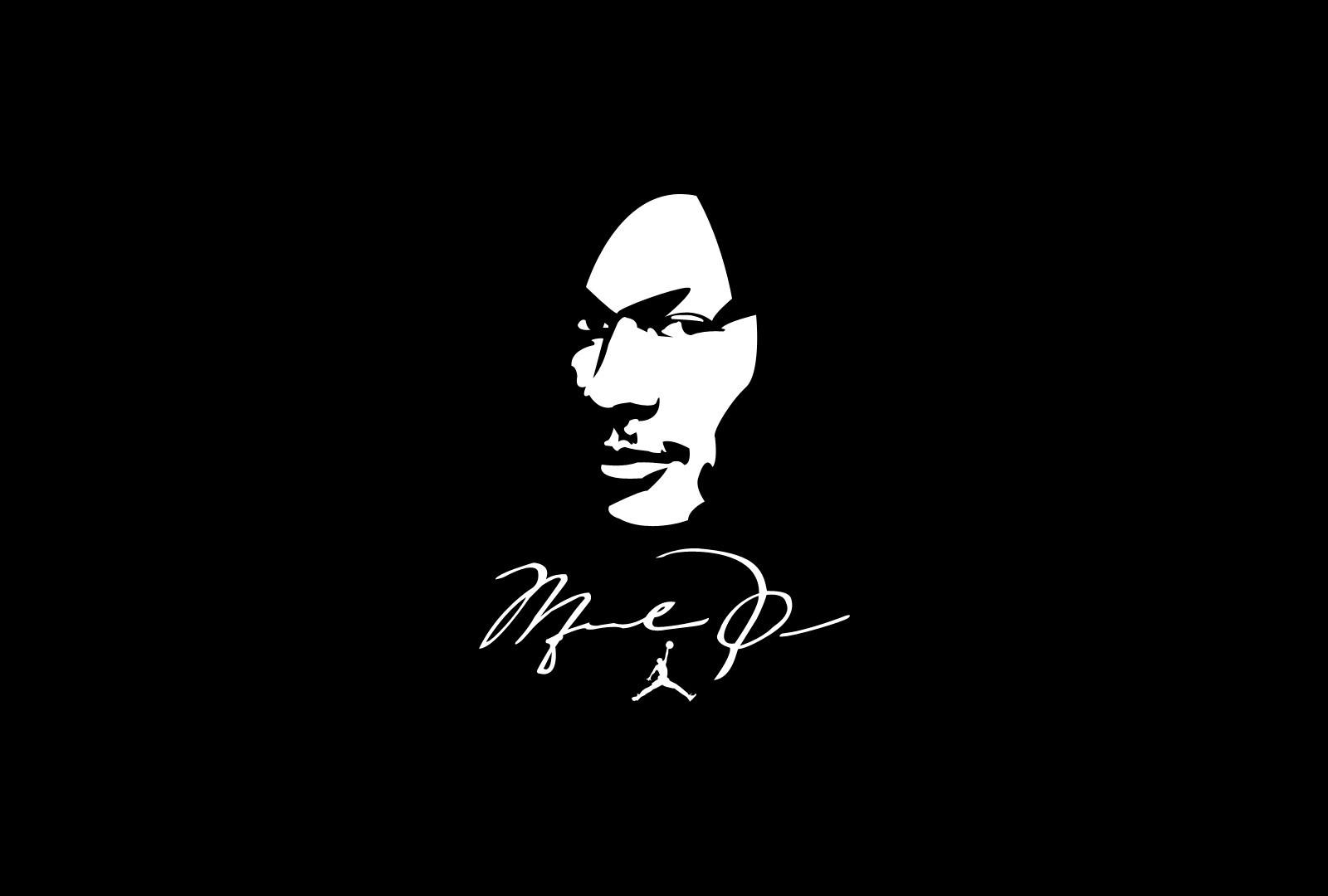 Wallpaper : illustration, silhouette, logo, brand, Michael Jordan