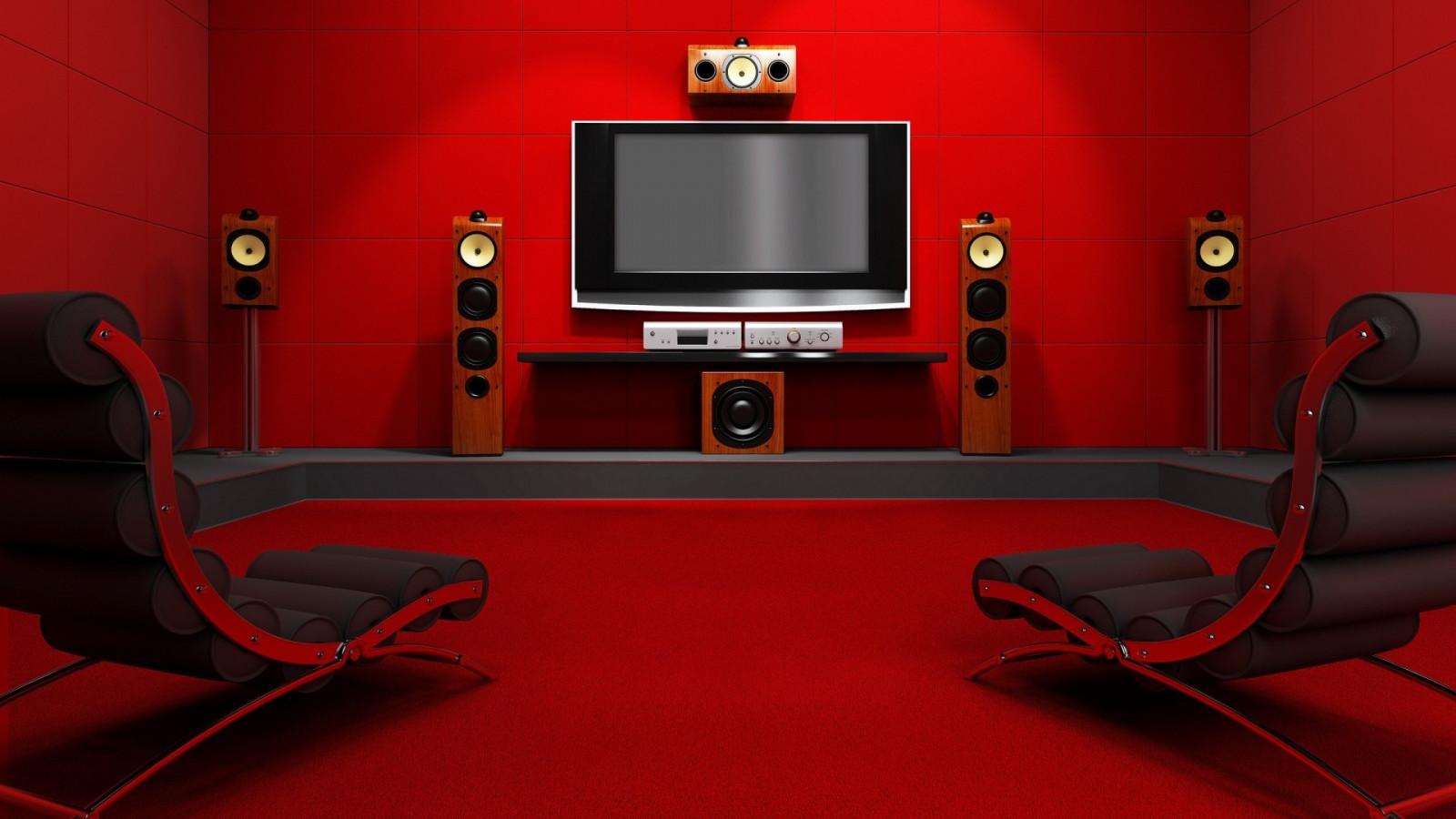 Wallpaper Red Indoors Chair Interior Design Television Sets Movie Theater B W Speakers Furniture Screenshot Living Room 1920x1080 Meelahi 186822 Hd Wallpapers Wallhere