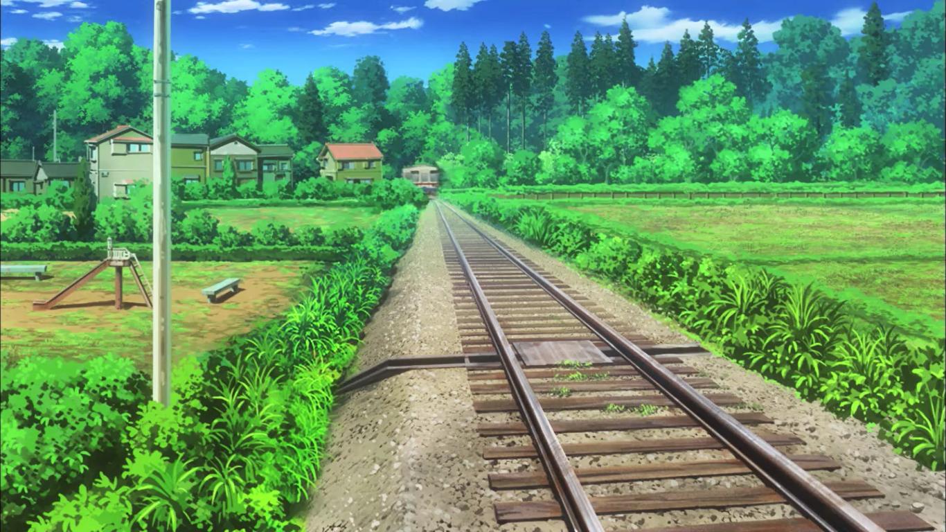 Wallpaper Landscape Anime Nature Field Non Non Biyori