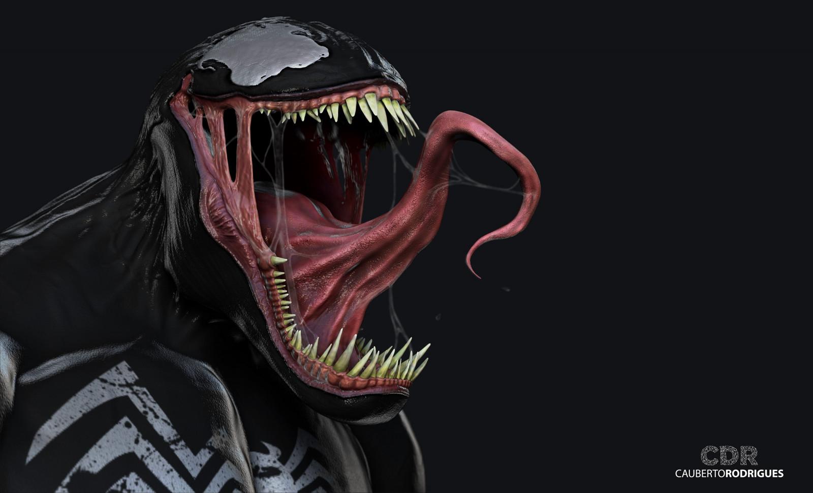 Wallpaper illustration anime 3d venom head darkness - 3d anime wallpaper ...