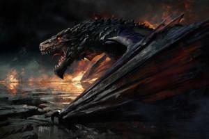 opera d'arte,Fantasy art,Drago,creatura