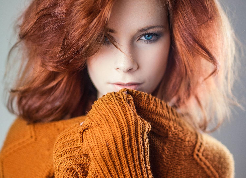 Hintergrundbilder Gesicht Frau Rothaarige Modell Porträt