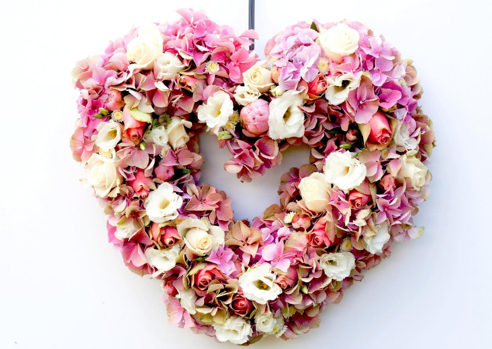 Фото дети, картинки сердце с цветами