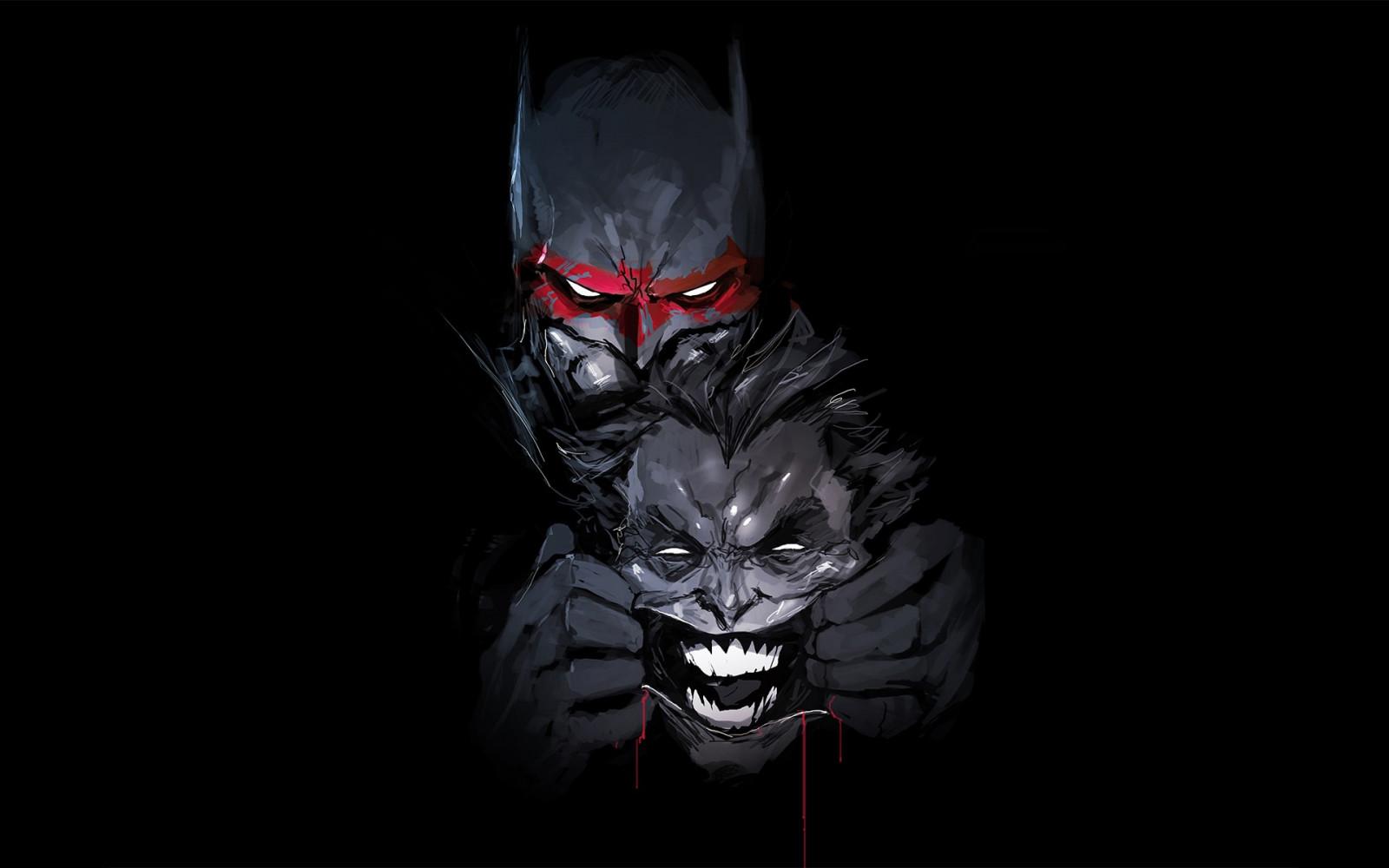 Wallpaper Batman Joker Demon Dc Comics Darkness Screenshot