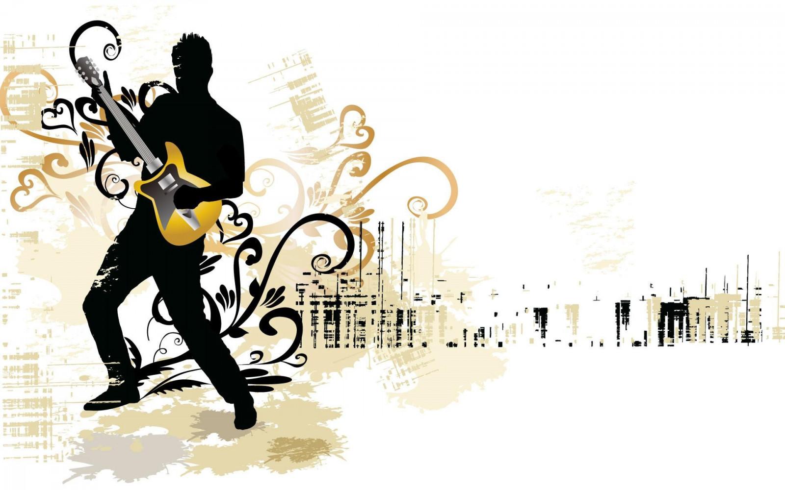 Картинки, фон с гитарой для открытки