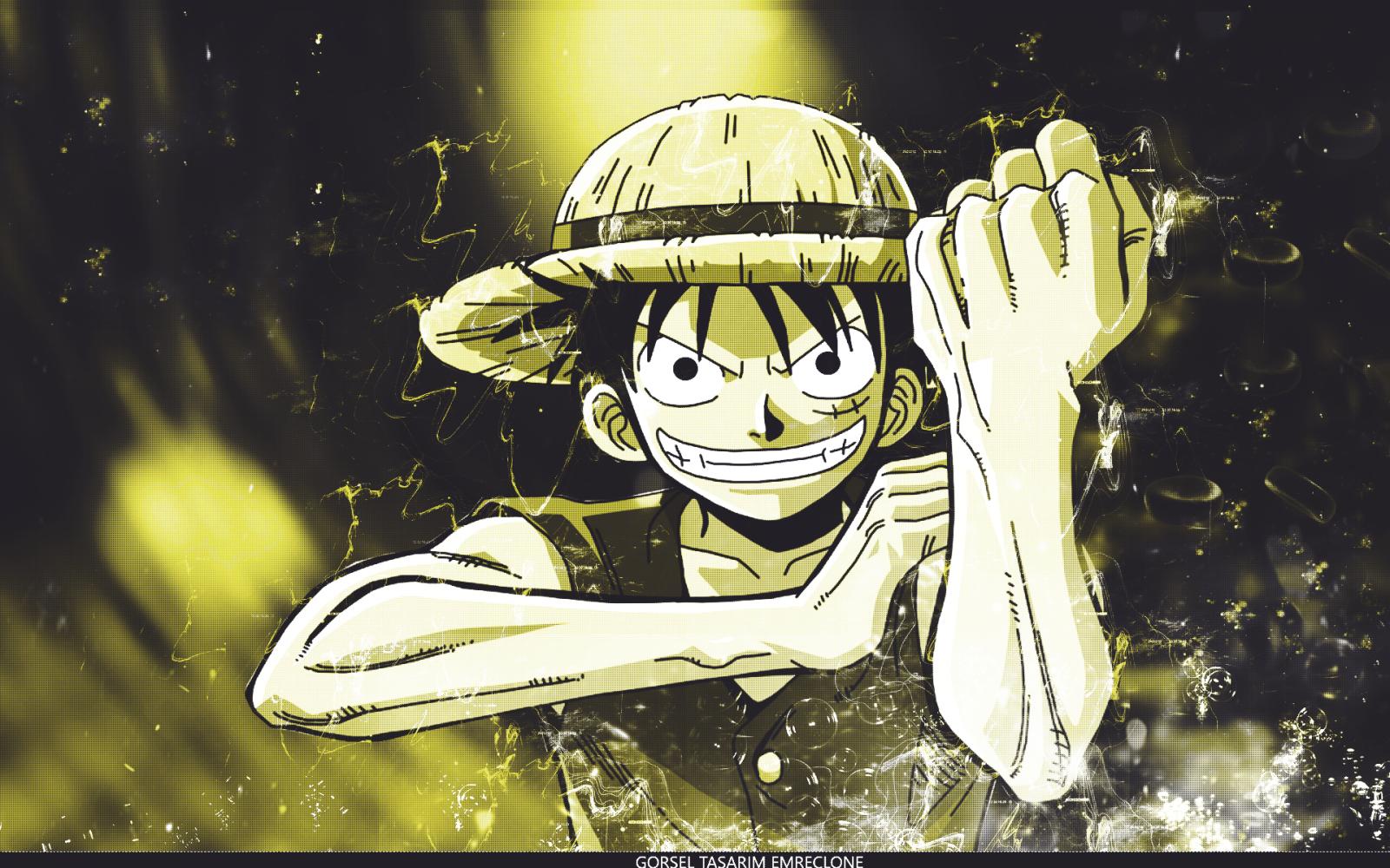 Wallpaper : illustration, cartoon, One Piece, Monkey D ...
