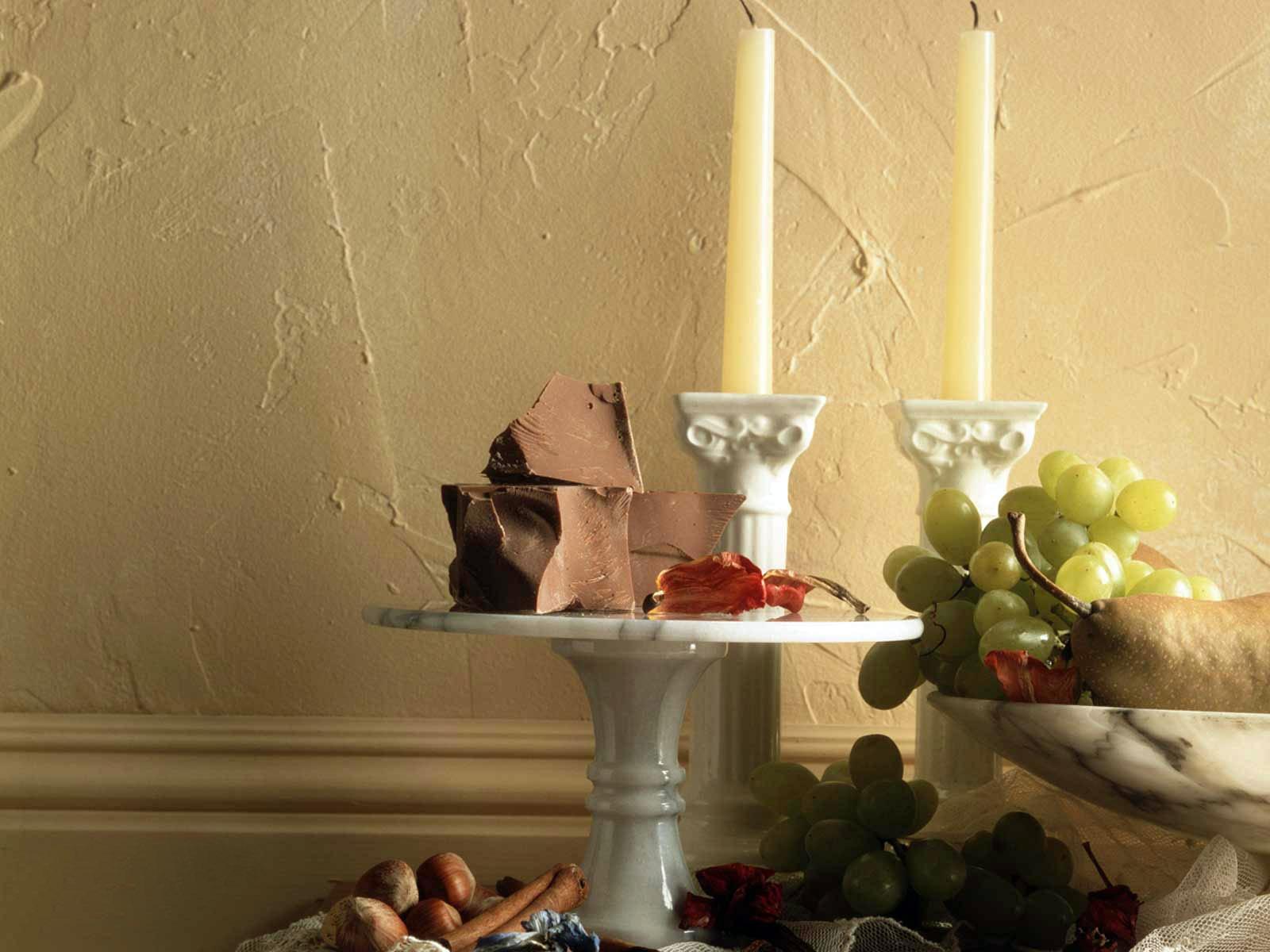 La Peinture Chambre Mur Les Raisins Chocolat Design Du0027intérieur Bougie  éclairage Conception Sol Plafond