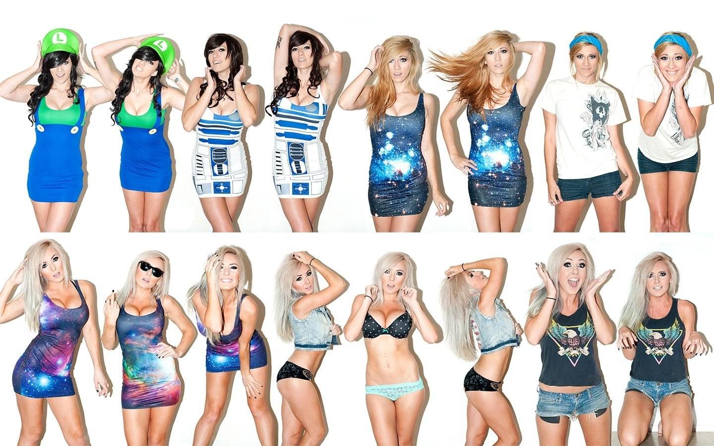 Wallpaper Star Wars Model Collage Costumes Lindsay Elyse Jessica Nigri Swimwear Clothing Supermodel Cheering Sports Uniform Cheerleading Uniform 1440x900 Tjenaremannen 350203 Hd Wallpapers Wallhere