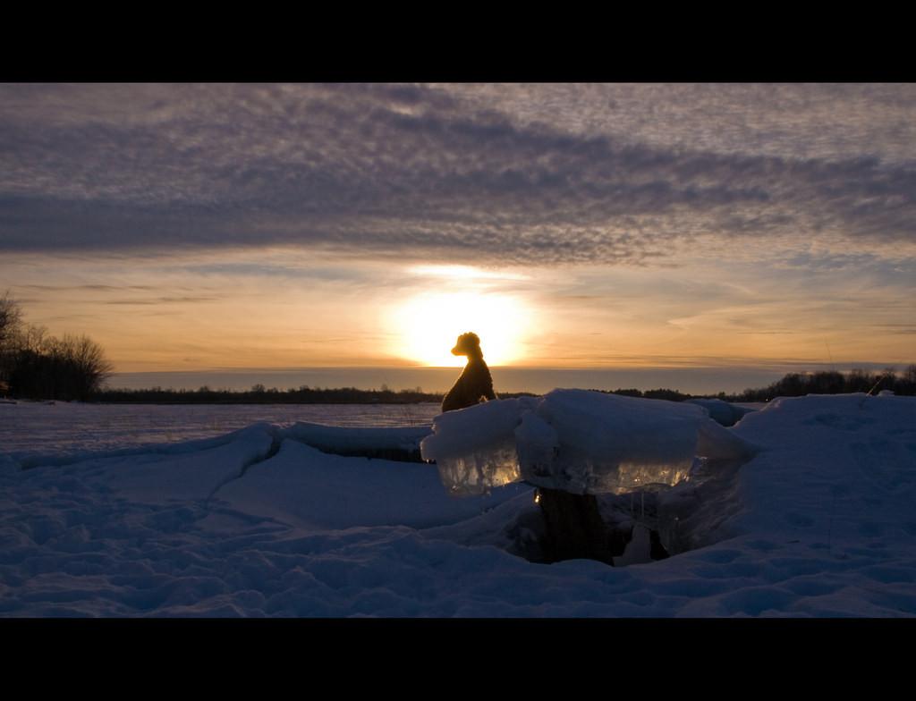 Fond d 39 cran lumi re du soleil le coucher du soleil nuit r flexion ciel neige hiver - Meteo lever et coucher du soleil ...