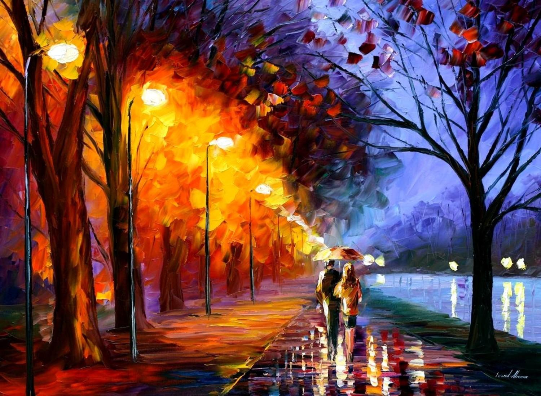 Нарисовать свет красками