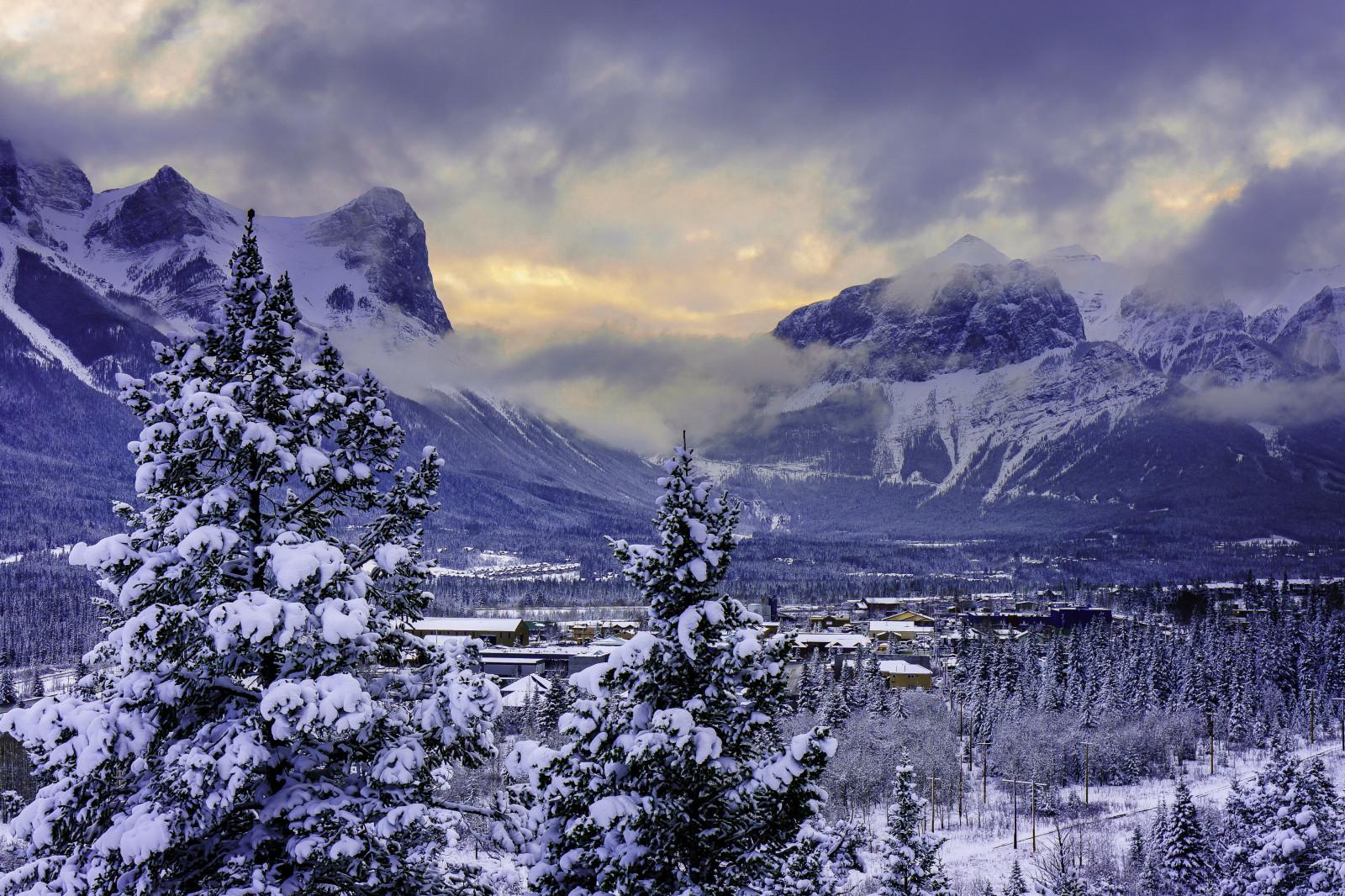 Fond D Ecran Canada Montagne Alberta Parc National De Banff Neige Hiver 4200x2800 Coolwallpapers 997414 Fond D Ecran Wallhere