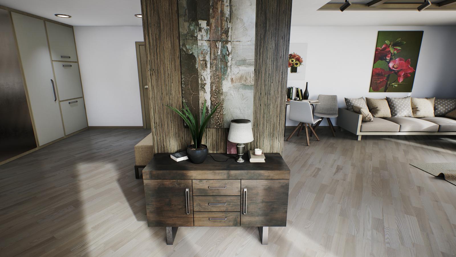 Wallpaper Table Interior Design Cottage Archviz