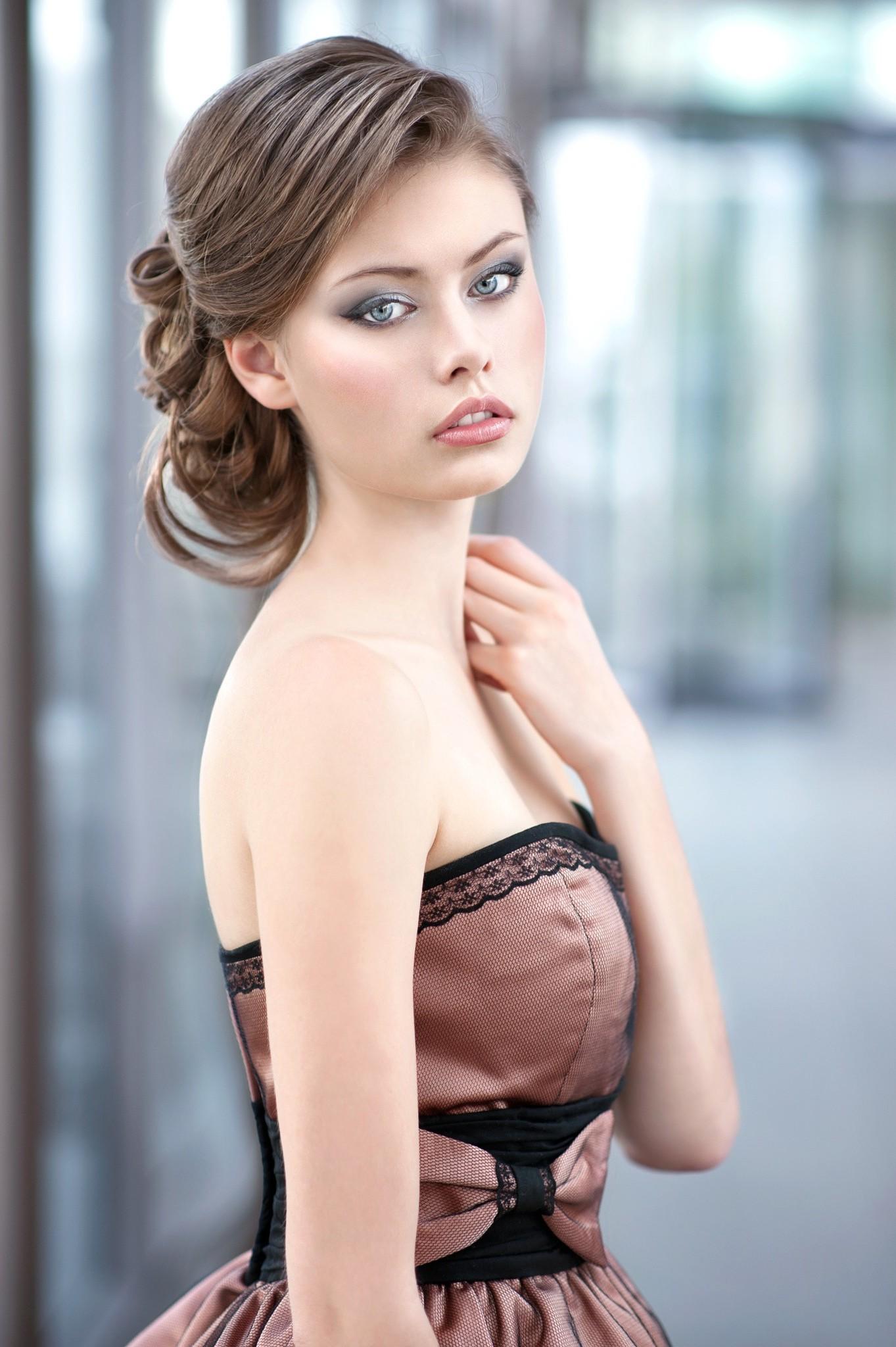 Hintergrundbilder : Frau, Modell-, lange Haare, Fotografie, Kleid