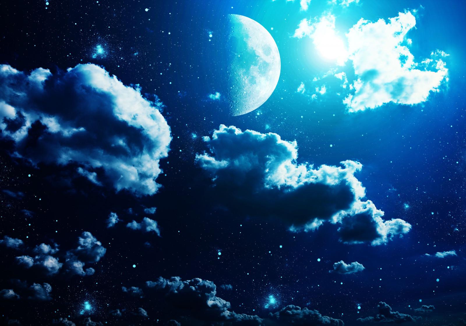 Луна и звезды картинки на рабочий стол