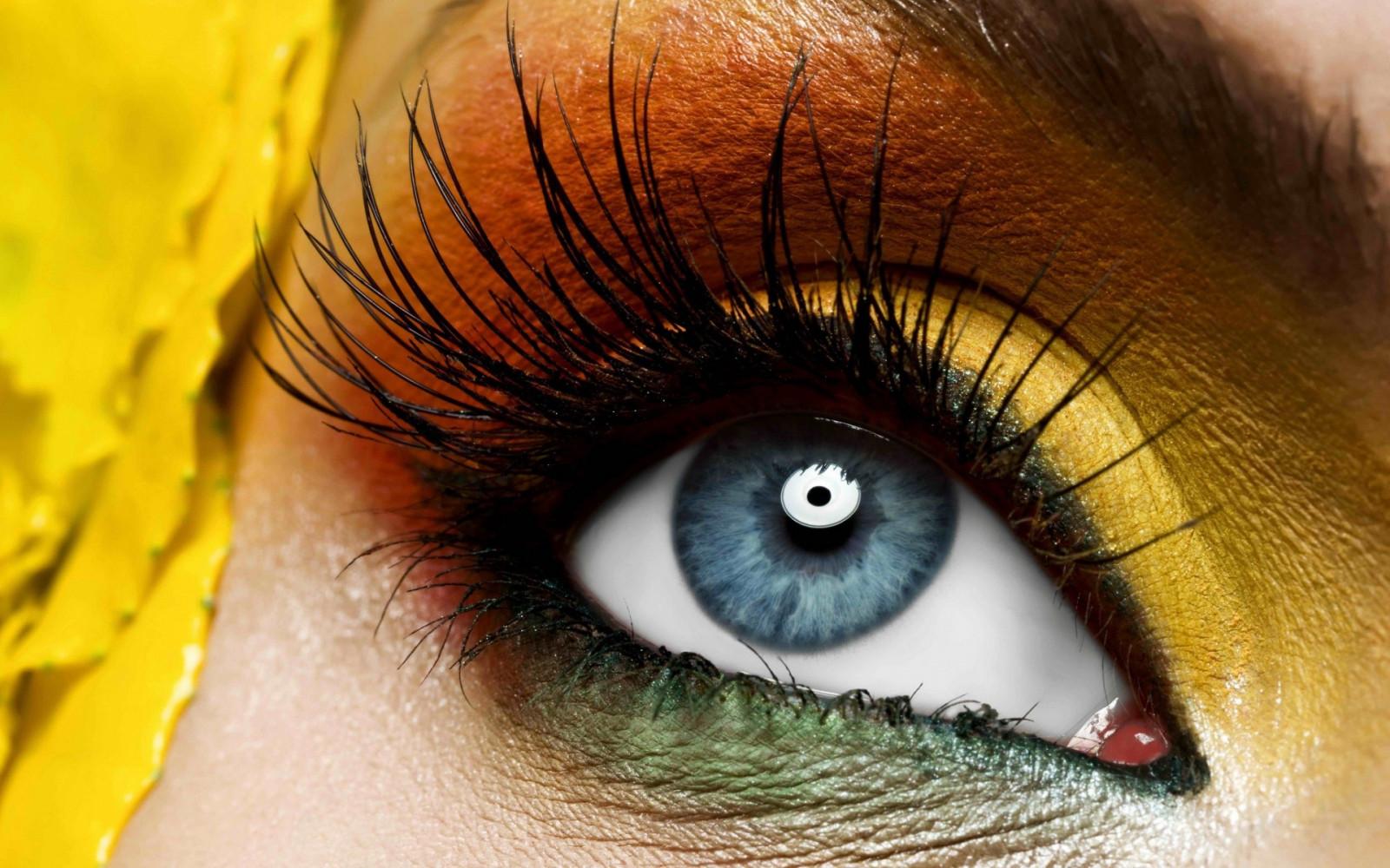 fond d 39 cran visage femmes les yeux rouge maquillage fermer vert jaune bleu nez t te. Black Bedroom Furniture Sets. Home Design Ideas