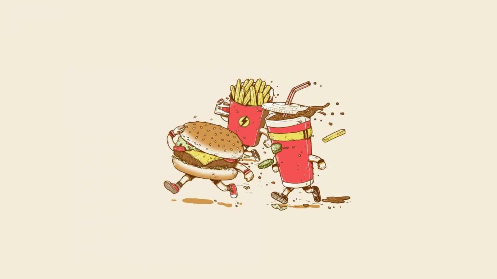 Прикольные рисунки еды