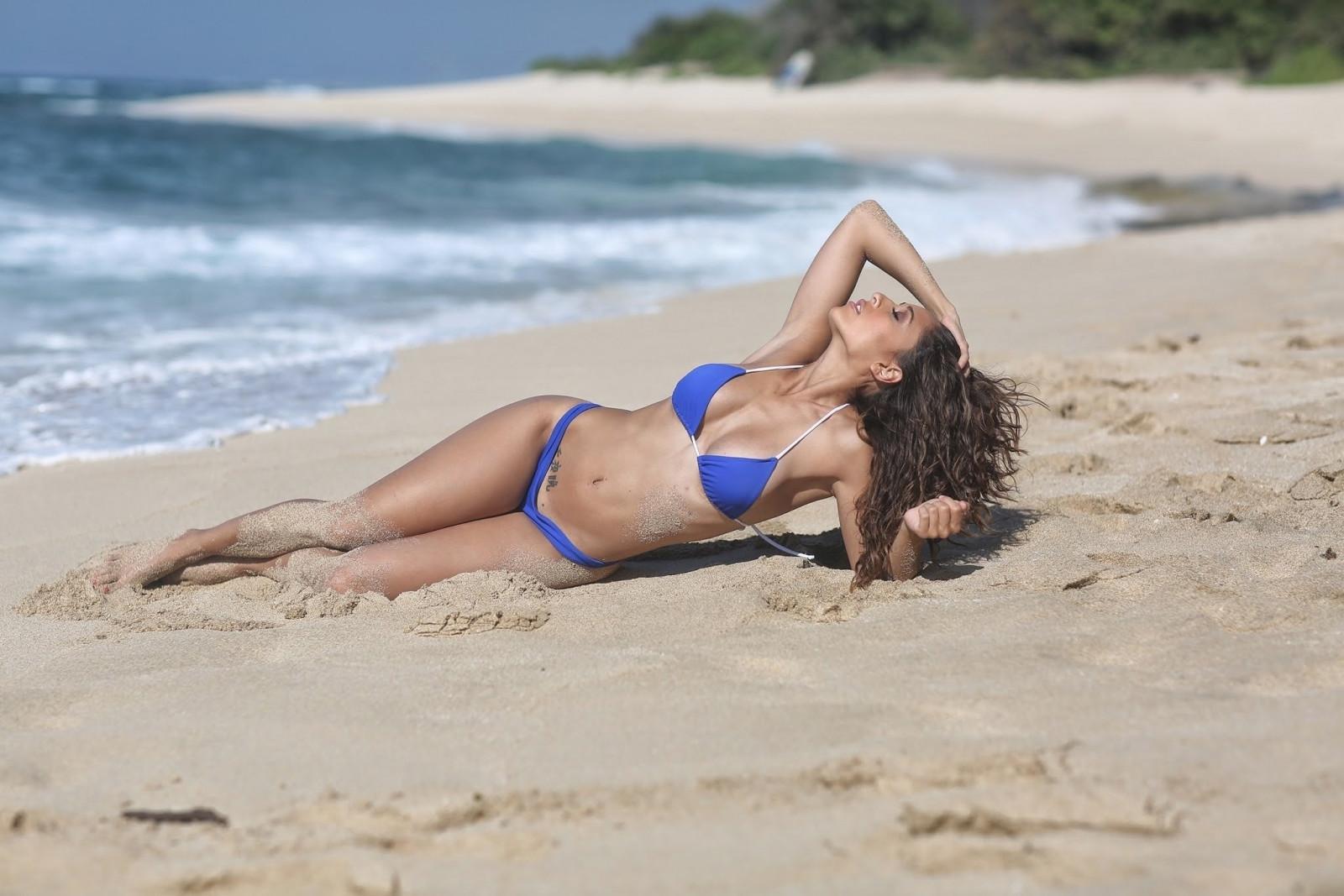 Nude quality video beach bikini black
