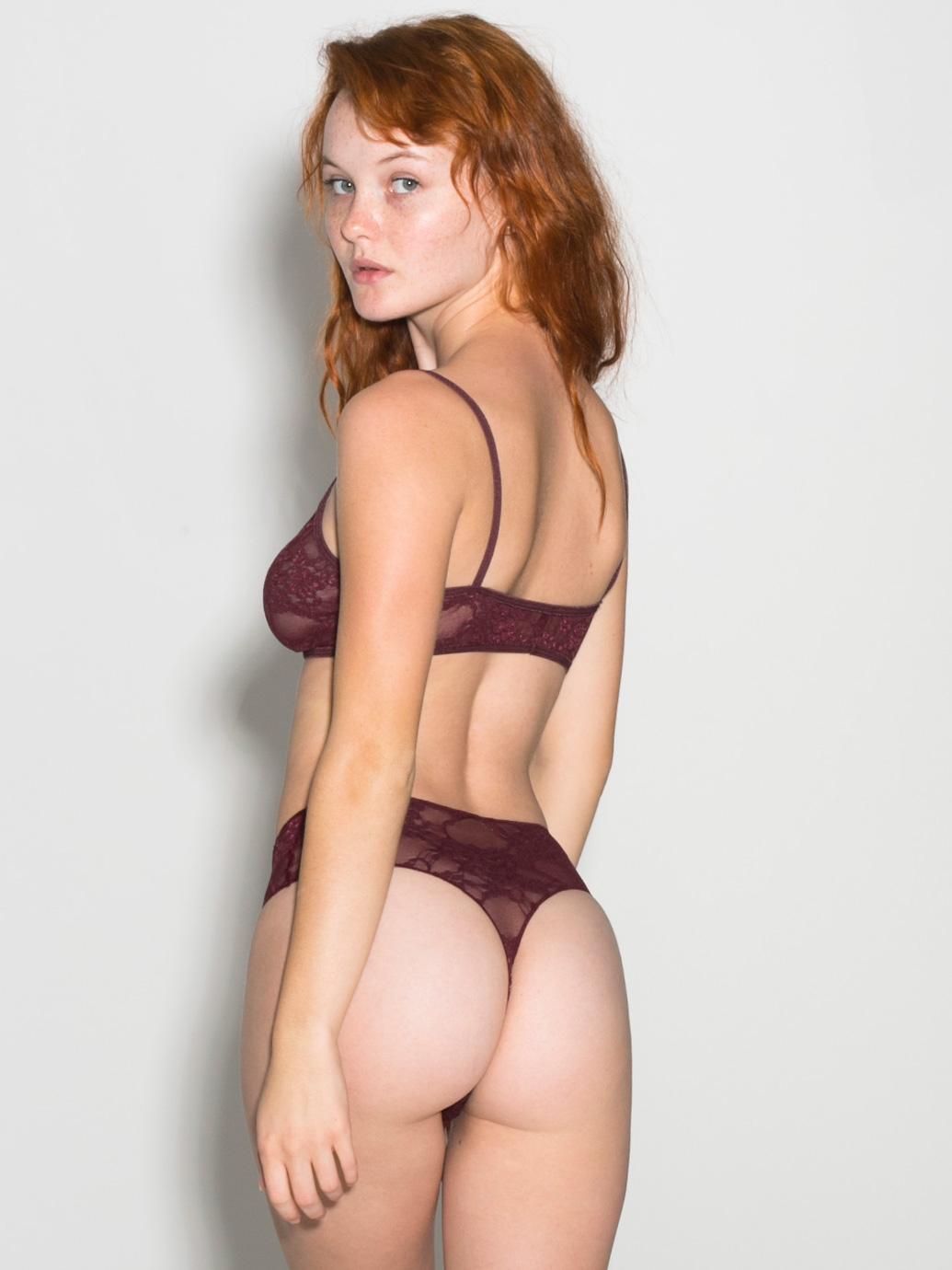 Wallpaper Kacy Anne Hill Underwear Women Redhead