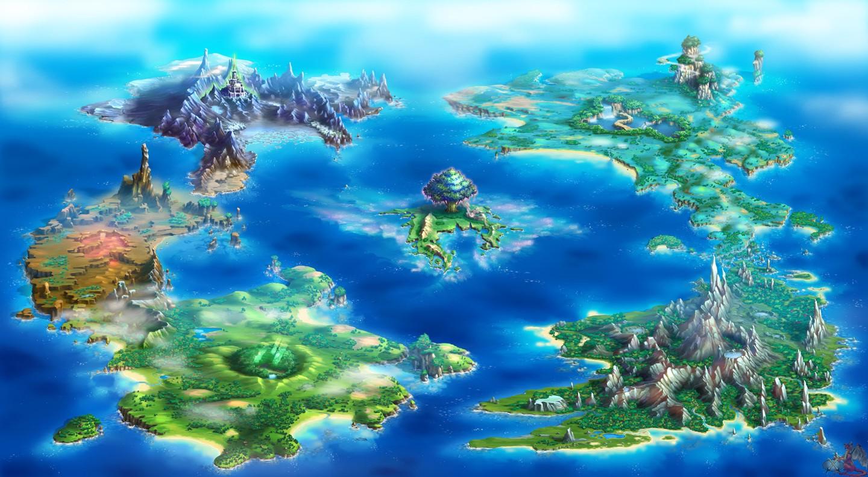 Wallpaper Digital Art Artwork Earth Map Island Seiken