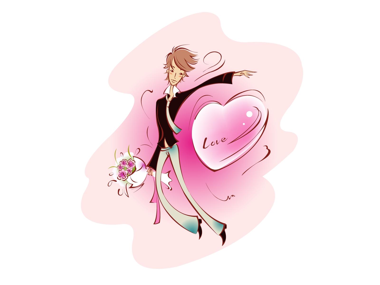Fond D écran Illustration Amour Cœur Dessin Animé Nez