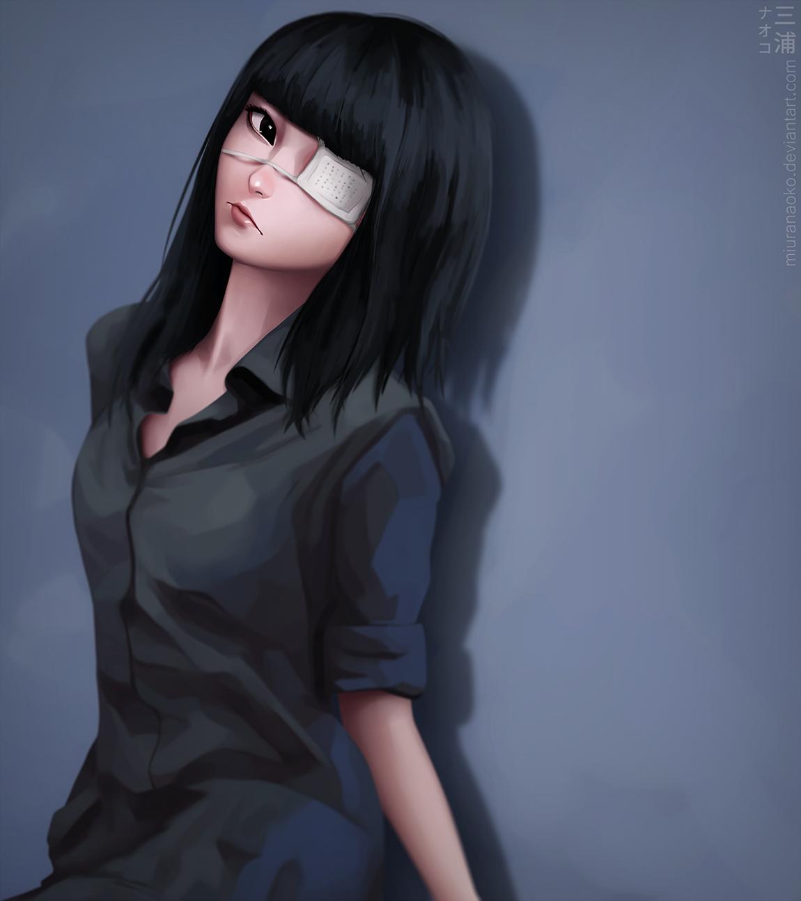 Wallpaper : model, long hair, anime girls, short hair, black hair