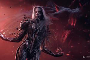 Wallpaper Fantasy Art Dark Fantasy Fantasy Girl Demon
