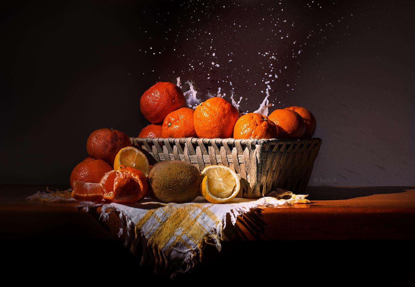 Masaüstü Boyama Gıda Resim Meyve Içki Mandalina Portakal