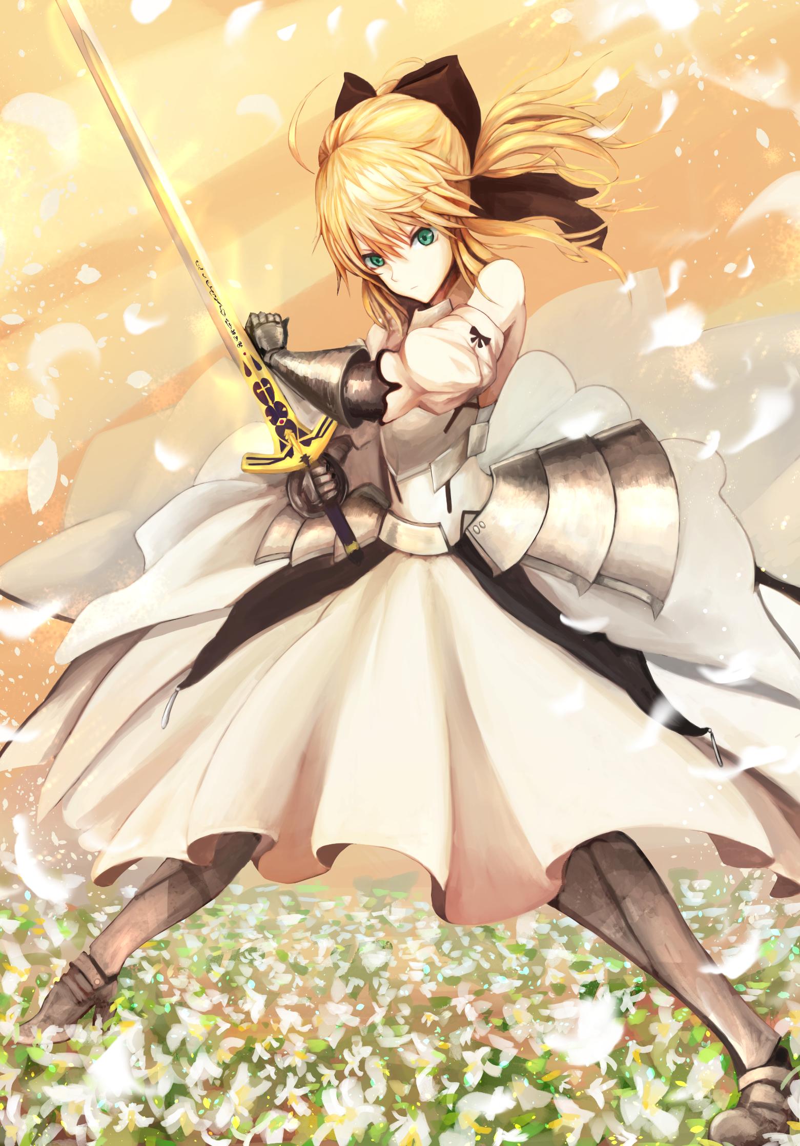 wallpaper illustration blonde anime girls short hair