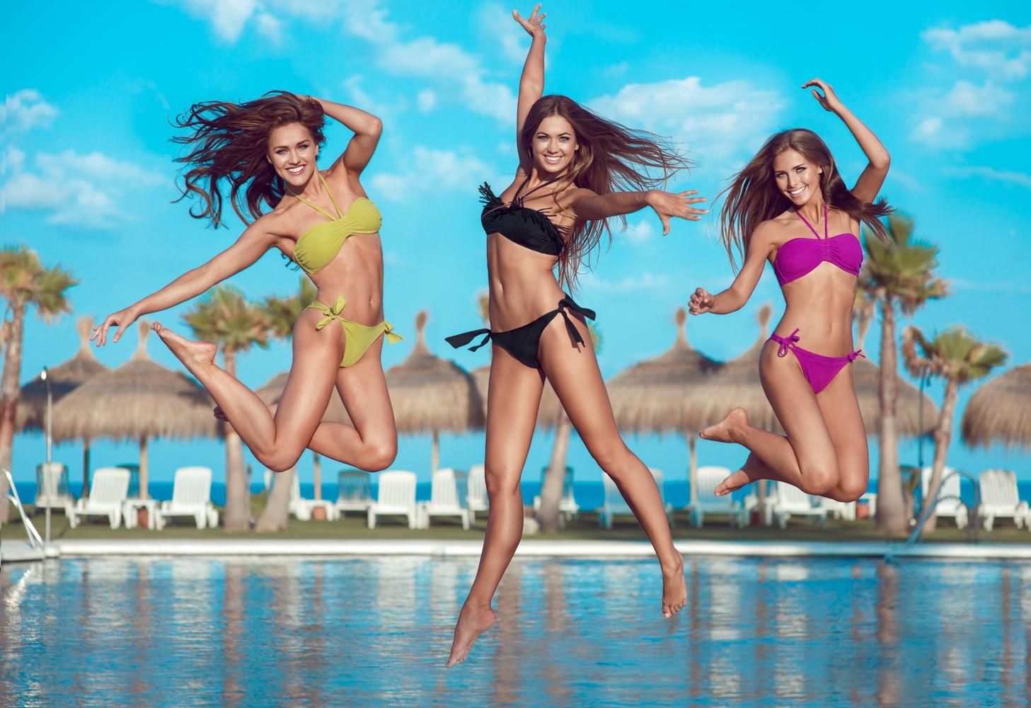 Muito Papel de parede : Esportes, sorridente, piscina, bikini, Grupo de  ZW61