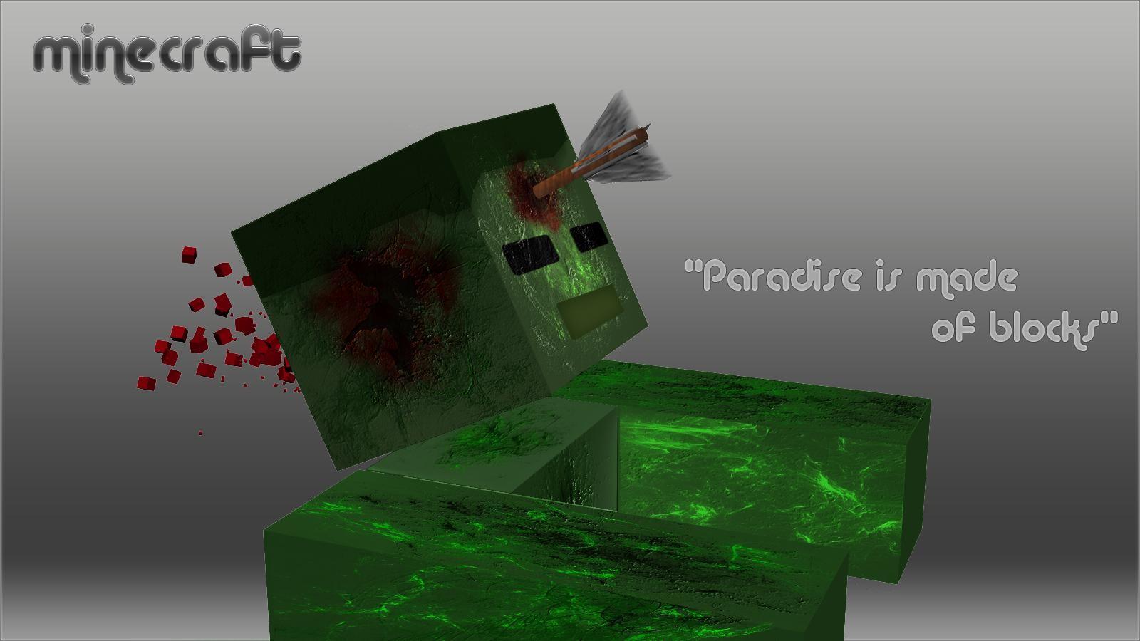 Wallpaper Illustration Minecraft Green Creeper Brand