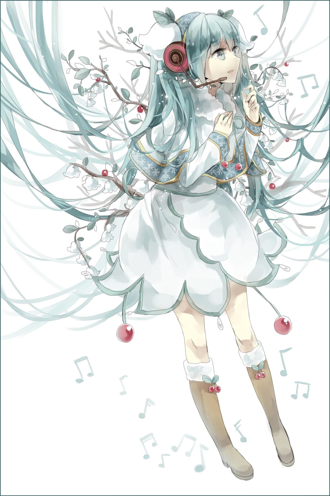 Fondos De Pantalla Dibujo Ilustración Flores Anime Chicas