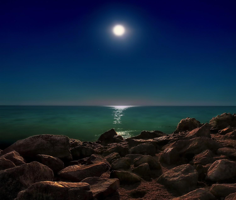 Ночное море картинки