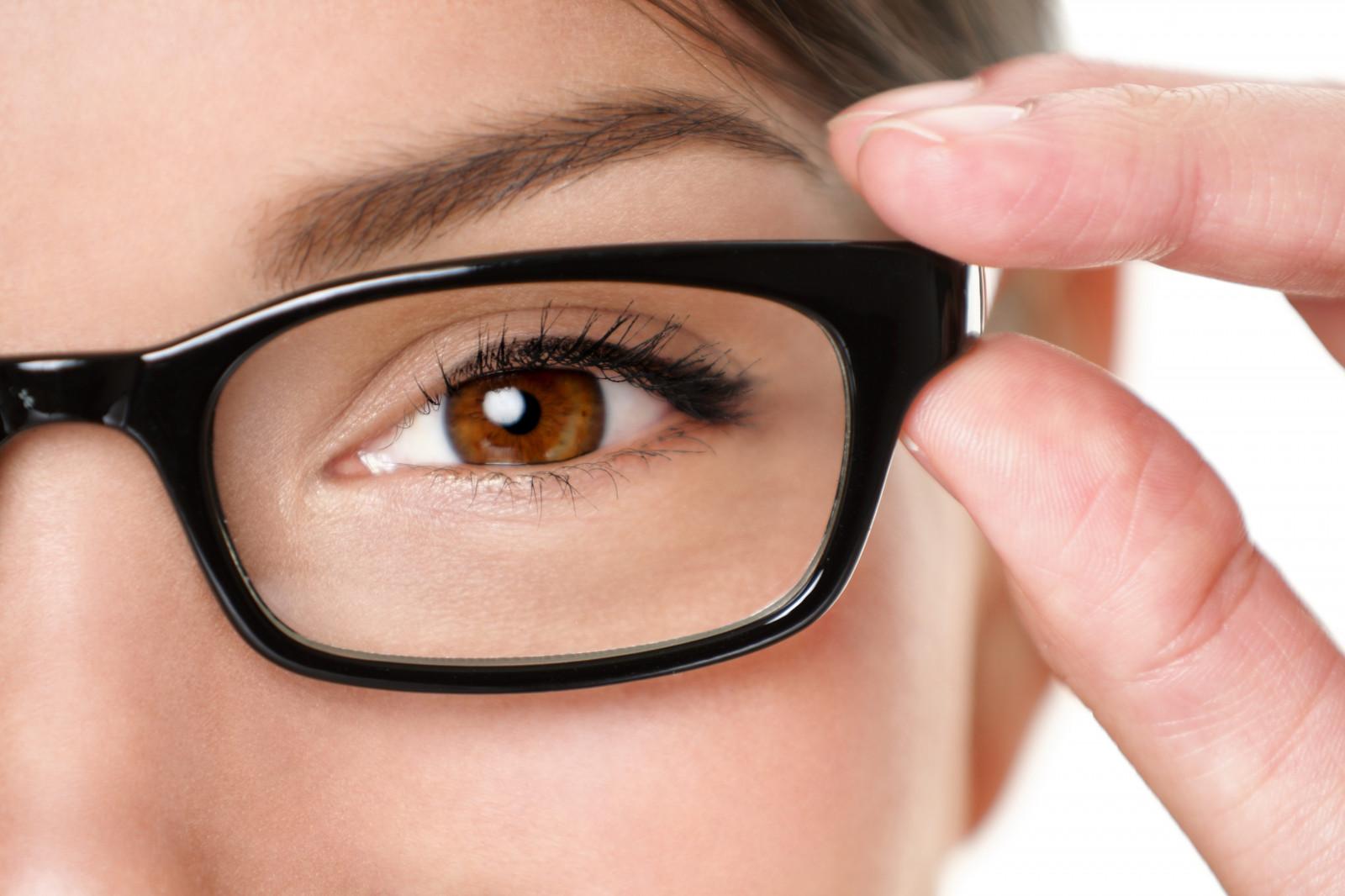 фото очки и глаза