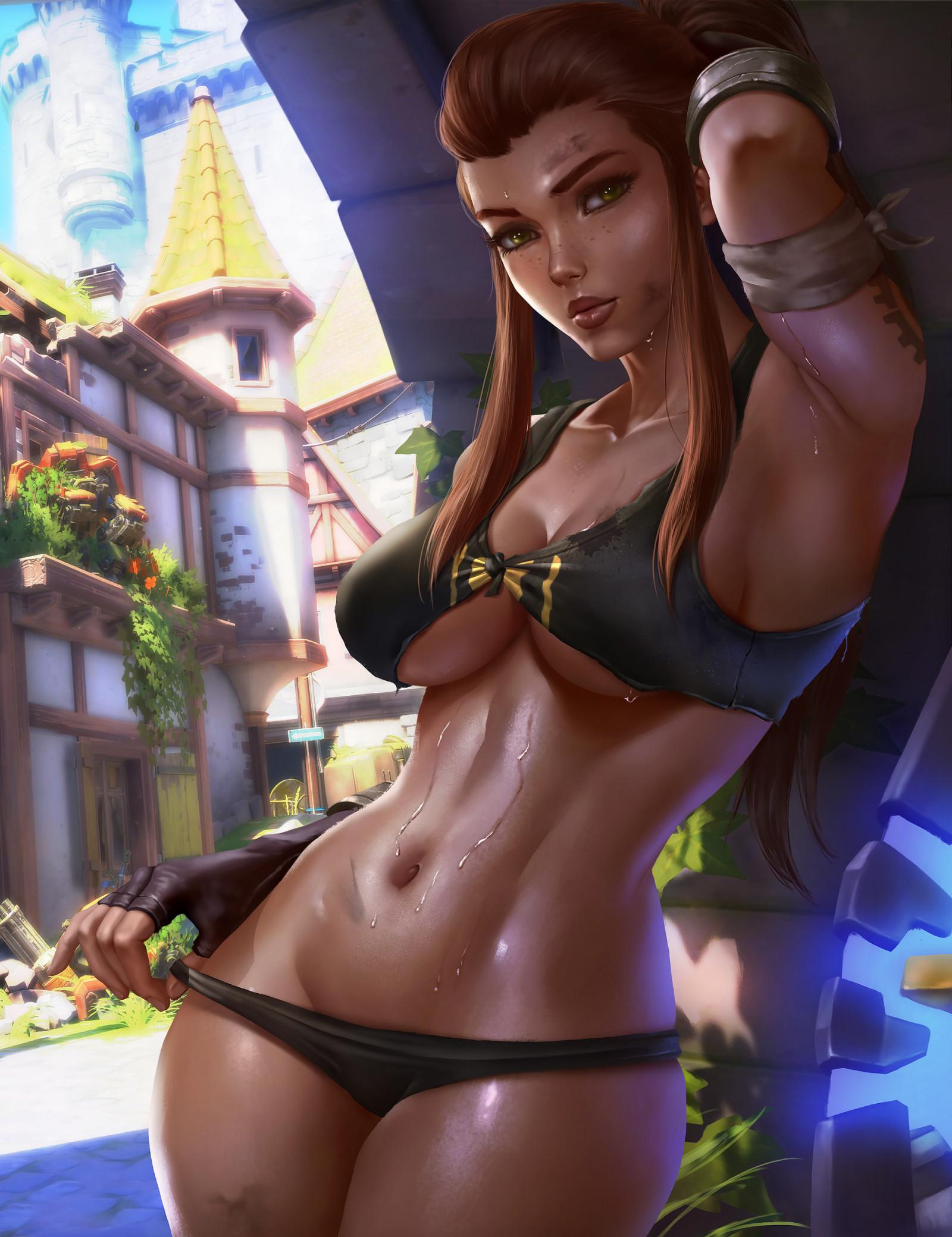Wallpaper : Logan Cure, underwear, Brigitte Overwatch