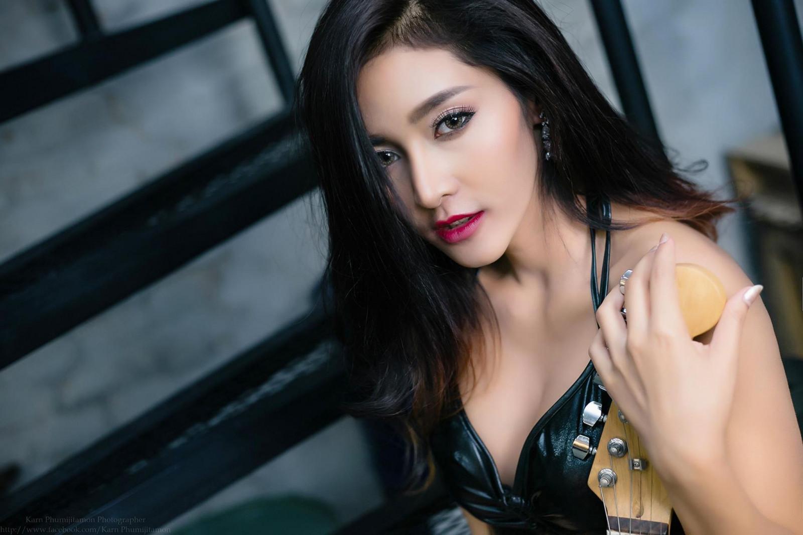 Wallpaper Women Model Long Hair Asian Singer Blue: Wallpaper : Model, Long Hair, Brunette, Glasses, Asian