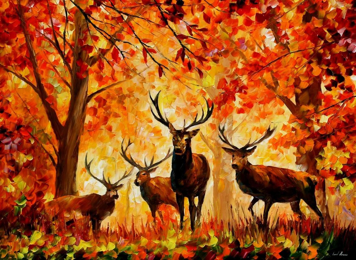 Яркая осень нарисовать