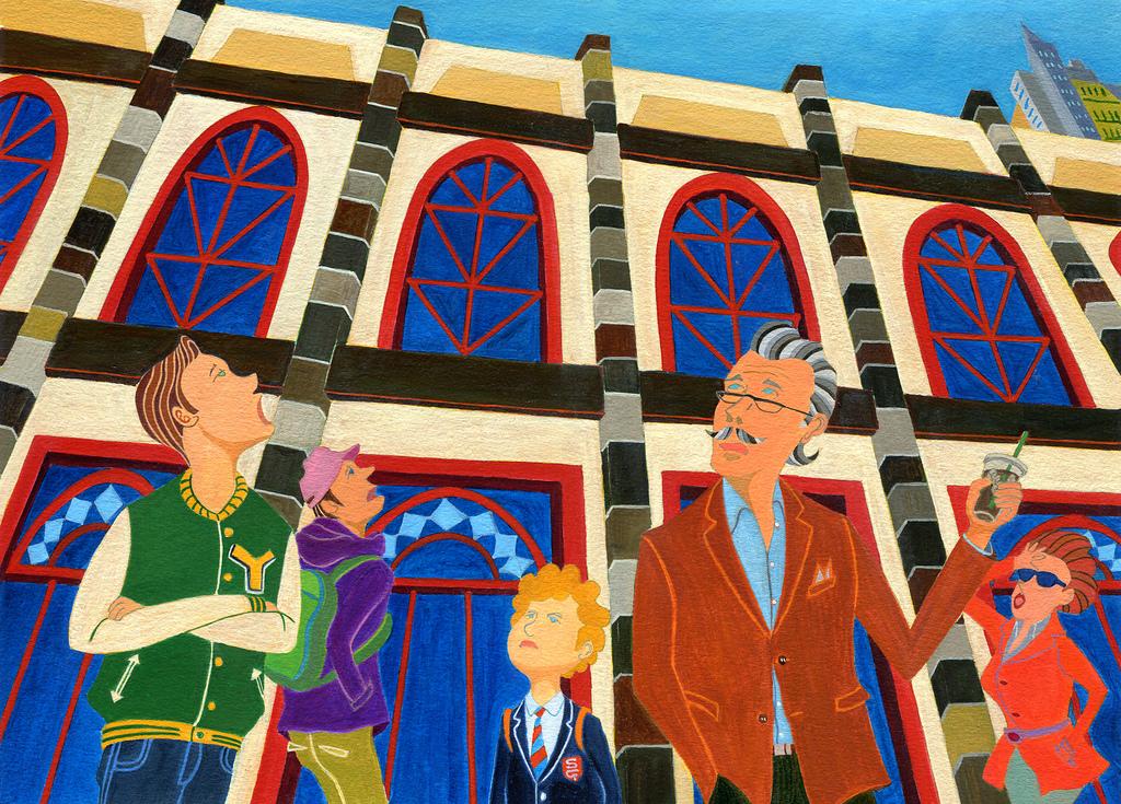 Masaüstü çizim Boyama Düşmek Illüstrasyon Izlemek Bina