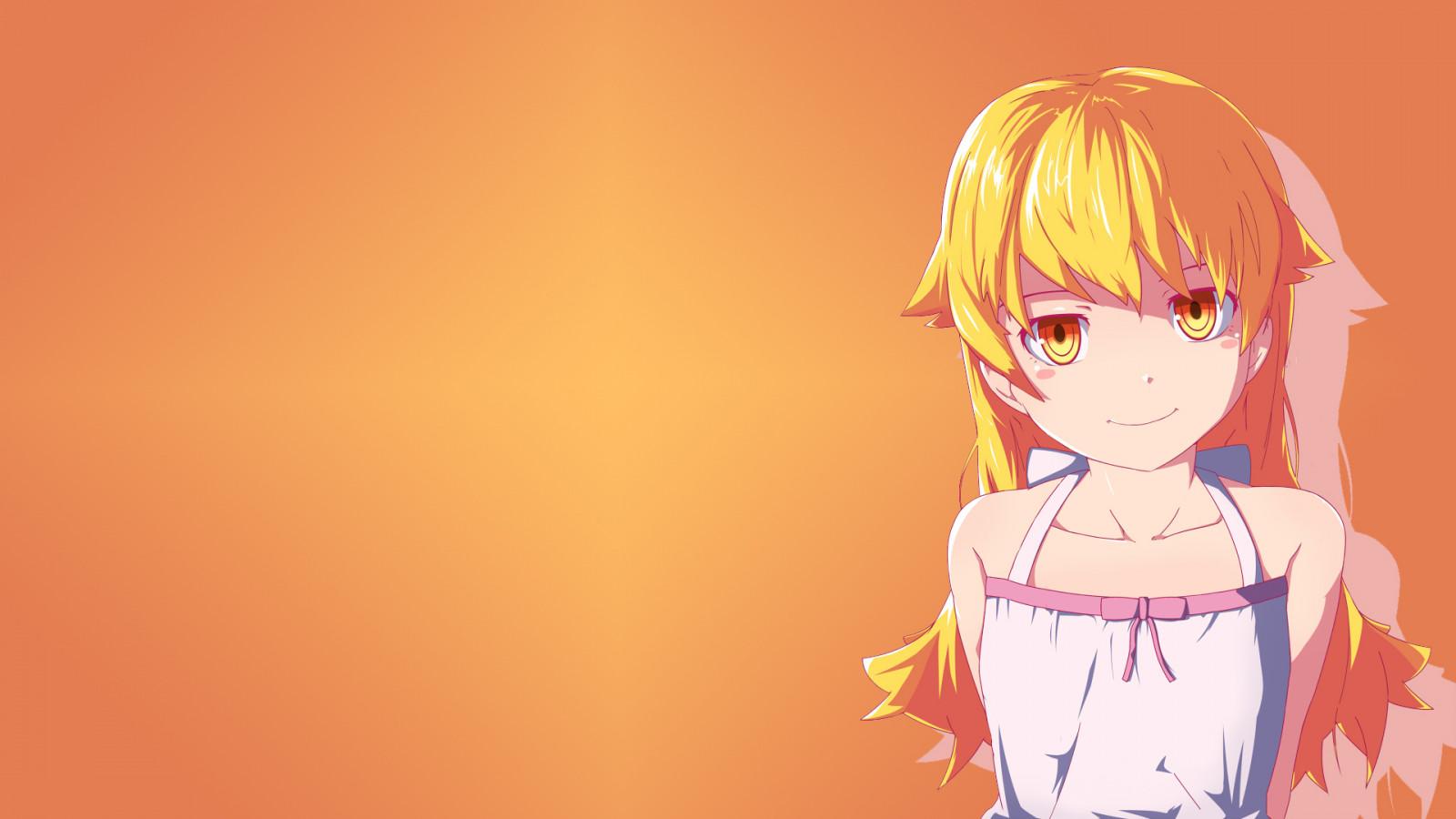 Wallpaper : illustration, long hair, Monogatari Series ...